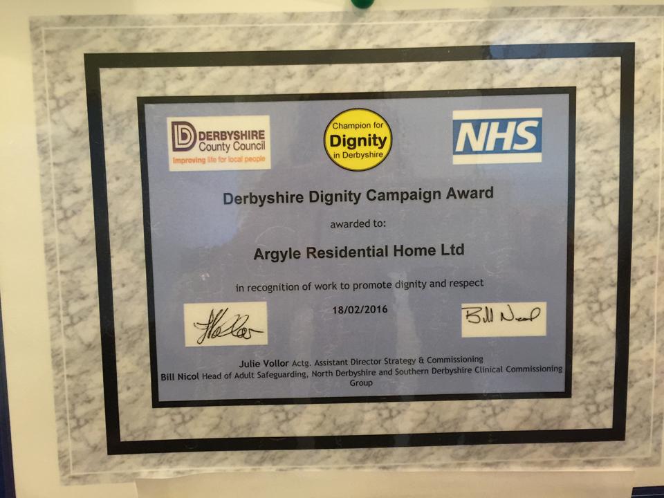 Dignity Award 2016